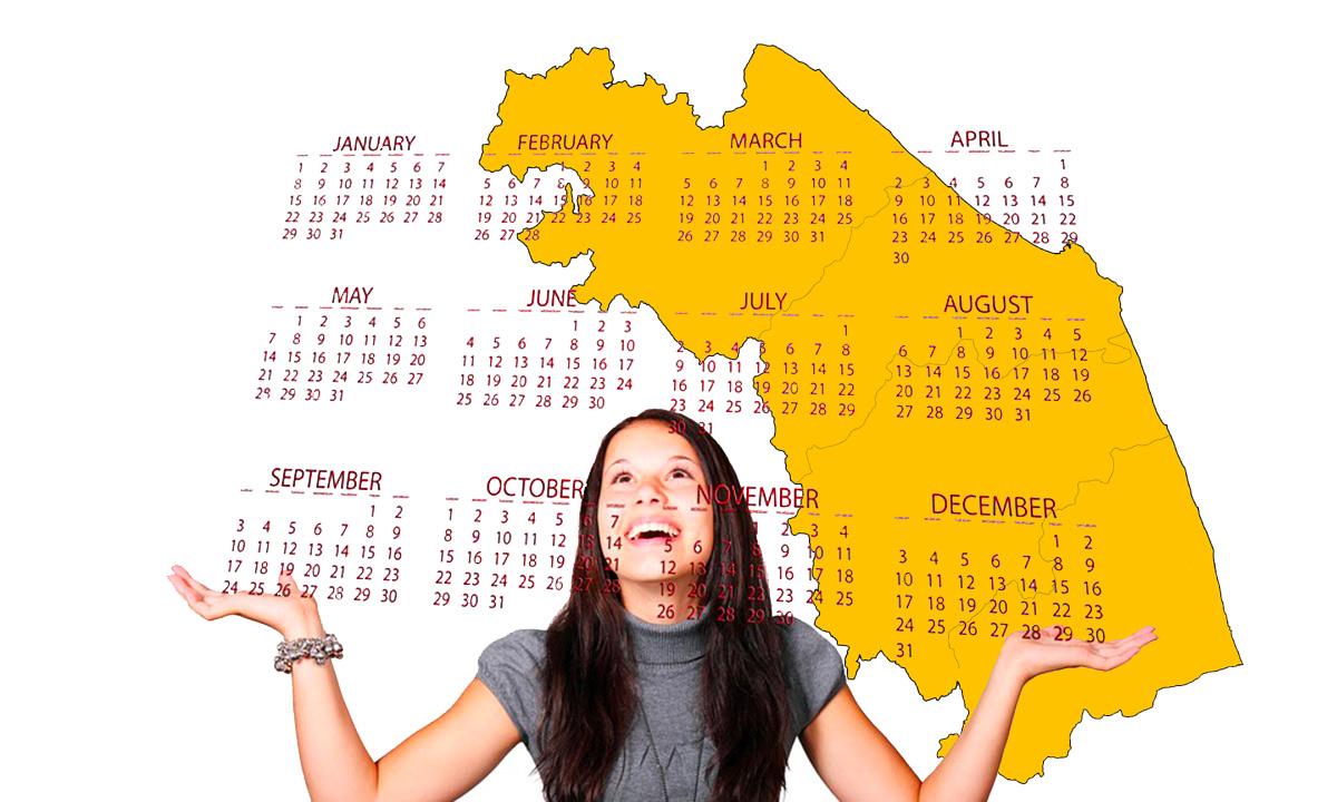 Calendario scolastico 2020-21 Marche