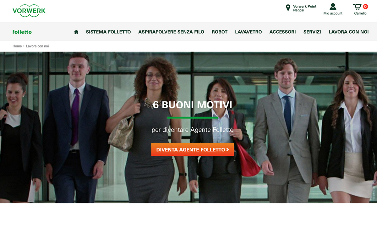 Come lavorare in Folletto e Vorwerk Italia