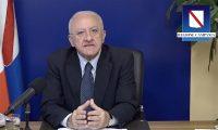 Vincenzo De Luca - chiusura scuole in Campania