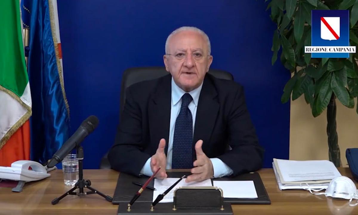 Vincenzo De Luca sul Vaccino anti Covid
