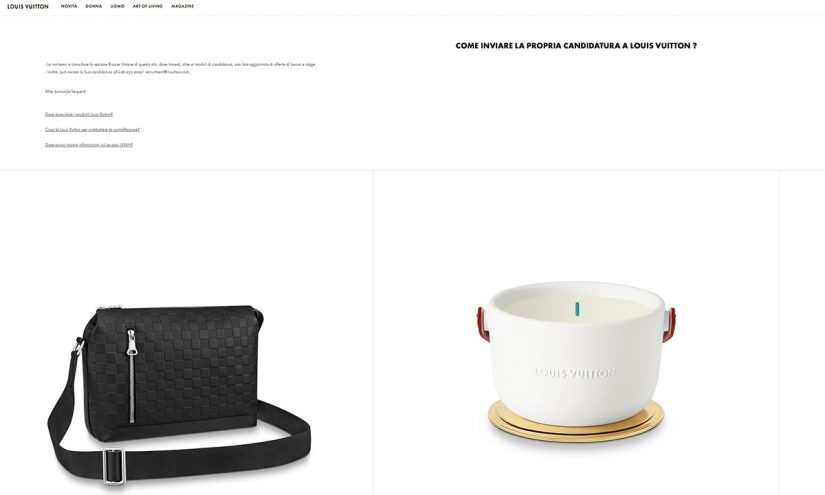 Come lavorare da Louis Vuitton