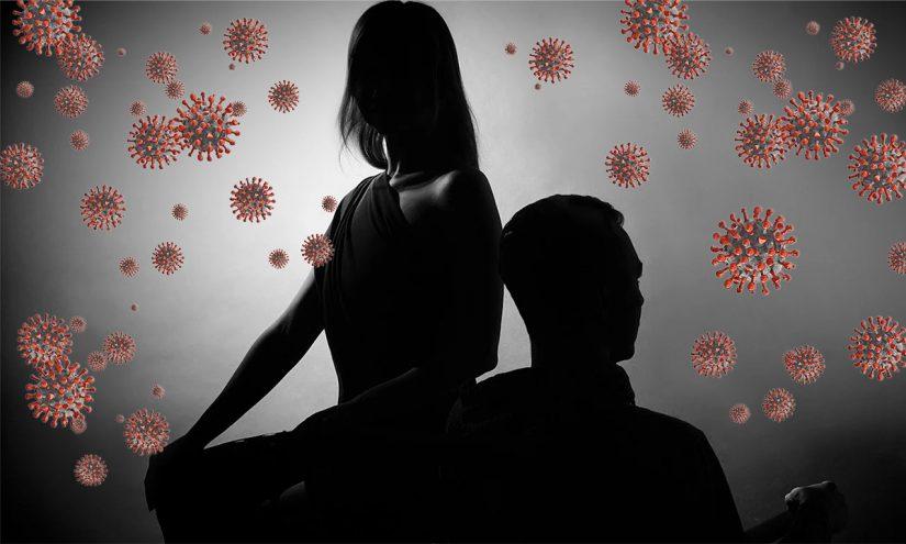 Calo del desiderio per coppie e single in quarantena da Coronavirus