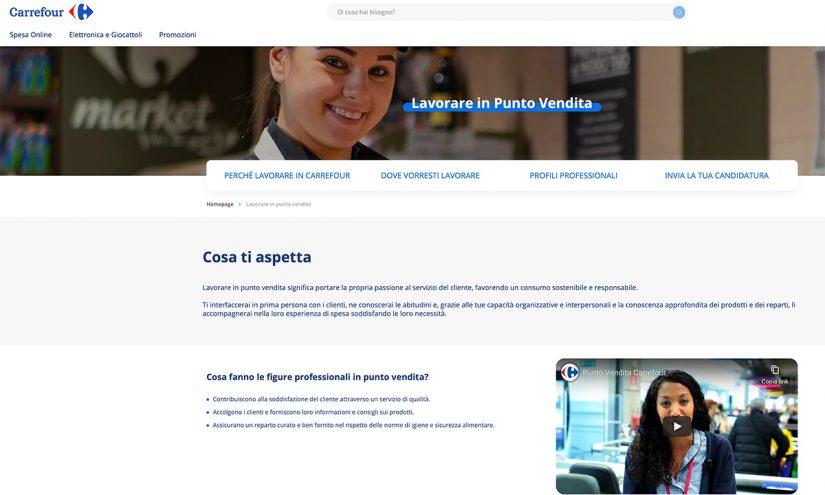 Lavorare da Carrefour