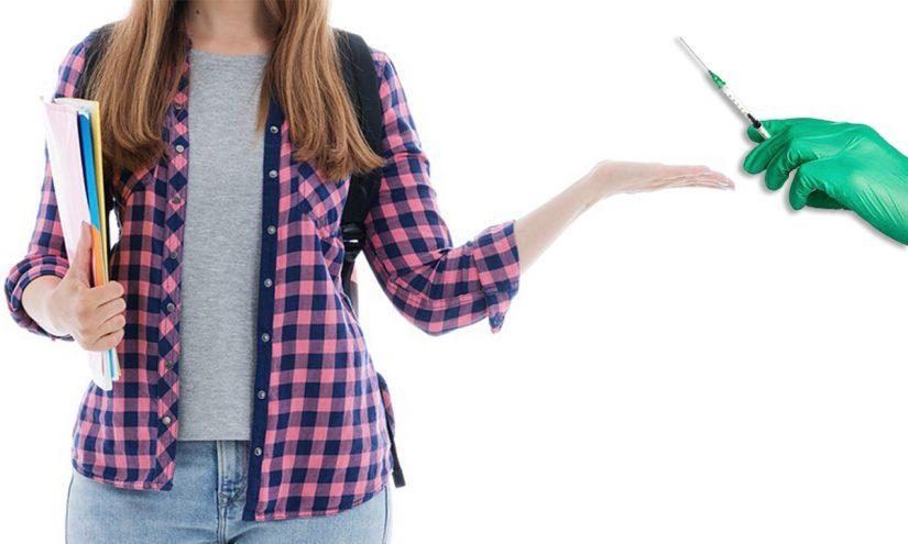 Vaccino Covid su giovani studenti
