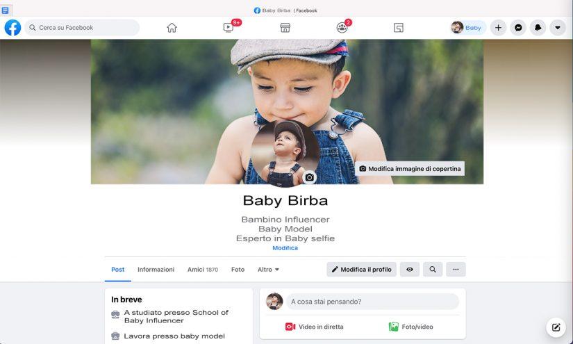 Bambini sui social network
