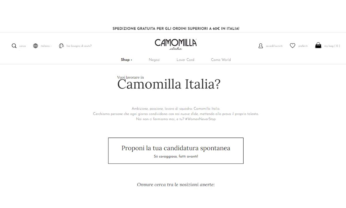 Lavorare per Camomilla