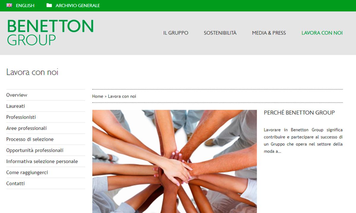 Lavorare per Benetton