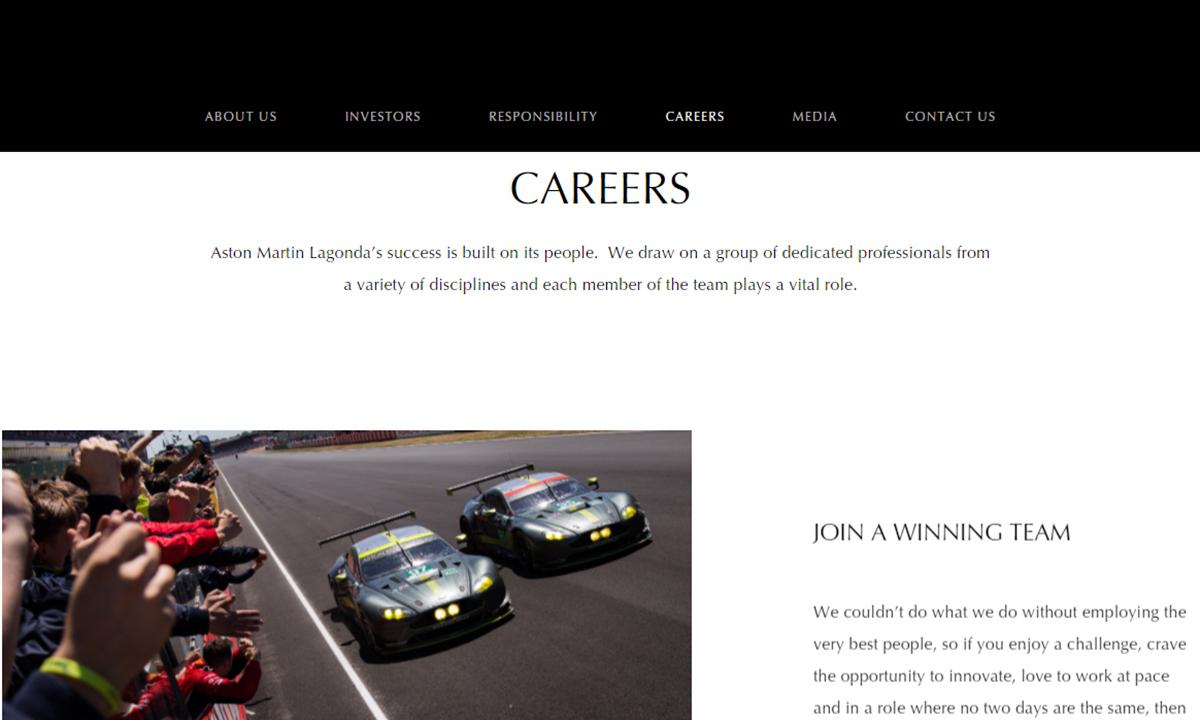 Lavorare in Aston Martin