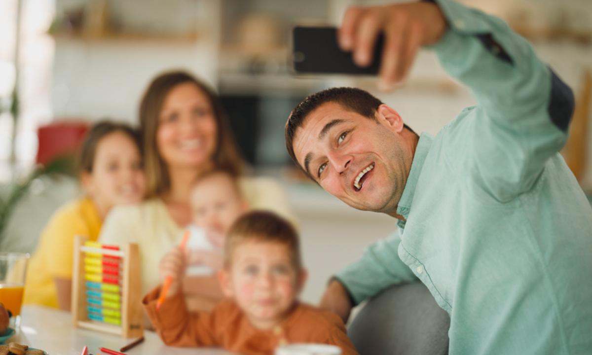 Foto dei bambini sui social