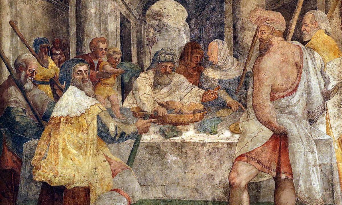 Livio Agresti dipinto personaggi Pasqua ebraica