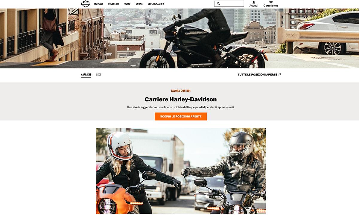Lavorare in Harley Davidson