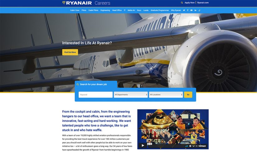Lavorare in Ryanair