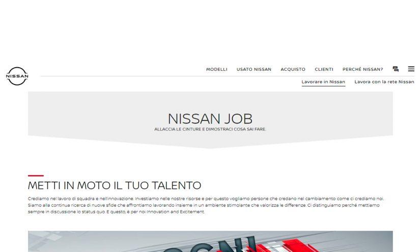 Lavorare in Nissan