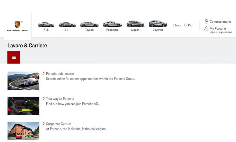 Lavorare in Porsche
