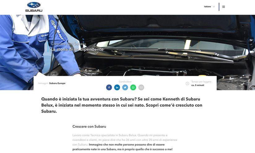 Lavorare in Subaru