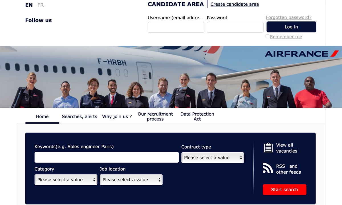 Lavorare in Air France