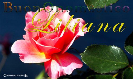 Immagini auguri buon onomastico per Santa Liliana